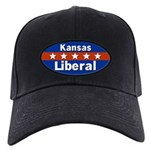 Kansas Liberal Black Baseball Cap