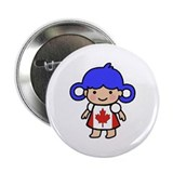 Canadian Flag Dress Girl Button