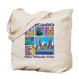Chicago Puzzle Tote Bag