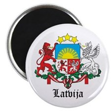 Latvia Arms with Name Magnet