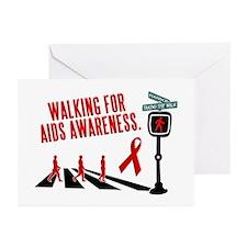 Walking for AIDS Awareness Greeting Cards (Pk of 1