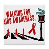 Walking for AIDS Awareness Tile Coaster