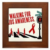 Walking for AIDS Awareness Framed Tile