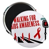 Walking for AIDS Awareness Magnet