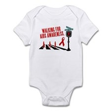 Walking for AIDS Awareness Infant Bodysuit