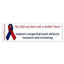 """born with a broken heart"" Bumper Bumper Sticker"