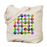 Peace Signs-colorful Tote Bag