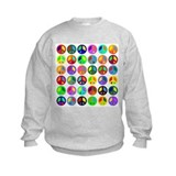 Peace Signs-colorful Sweatshirt
