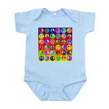 Peace Signs-colorful Infant Bodysuit