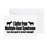 Multiple Goats Greeting Card