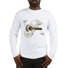 Tuba Go Here Long Sleeve T-Shirt