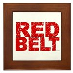 RED BELT 1 Framed Tile