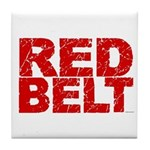 RED BELT 1 Tile Coaster