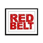 RED BELT 1 Framed Panel Print