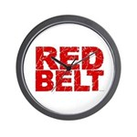 RED BELT 1 Wall Clock