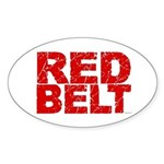 RED BELT 1 Oval Sticker