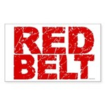 RED BELT 1 Rectangle Sticker