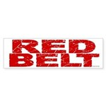 RED BELT 1 Bumper Sticker