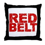 RED BELT 1 Throw Pillow