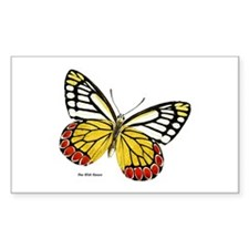 Red Dots Butterfly Rectangle Decal