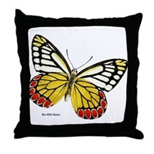 Red Dots Butterfly Throw Pillow