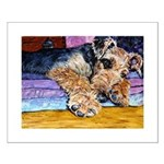 Airedale Terrier dog Small Poster