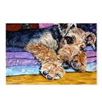 Airedale Terrier dog Postcards (Package of 8)