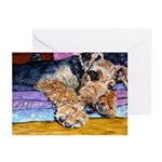 Airedale Terrier dog Greeting Cards (Pk of 10)
