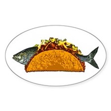 Fish Taco Oval Decal
