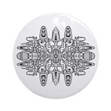 Venter Technoid B&W Ornament (Round)