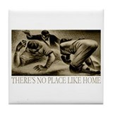 No Place Like Home Baseball Tile Coaster