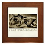 No Place Like Home Baseball Framed Tile