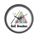 Ball Breaker Pool Wall Clock