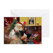 Santa's Bullmastiff #7 Greeting Cards (Pk of 20)