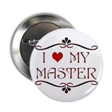 'I Love My Master' Button/Pin/Badge (10 pack)