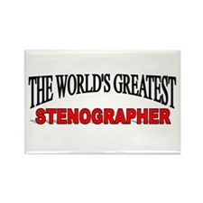 """The World's Greatest Stenographer"" Rectangle Magn"