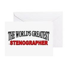 """""""The World's Greatest Stenographer"""" Greeting Card"""
