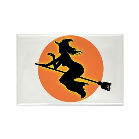 Witch Moon Rectangle Magnet