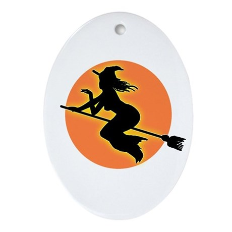 Witch Moon Oval Ornament