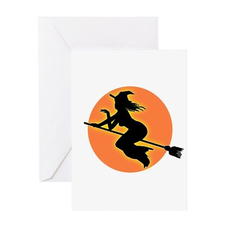 Witch Moon Greeting Card