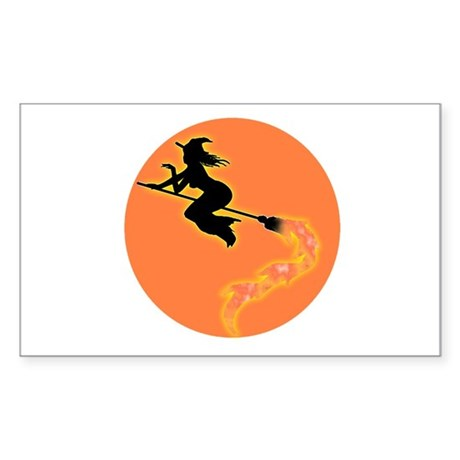 Witch Moon Rectangle Sticker