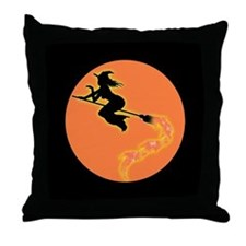 Witch Moon Throw Pillow