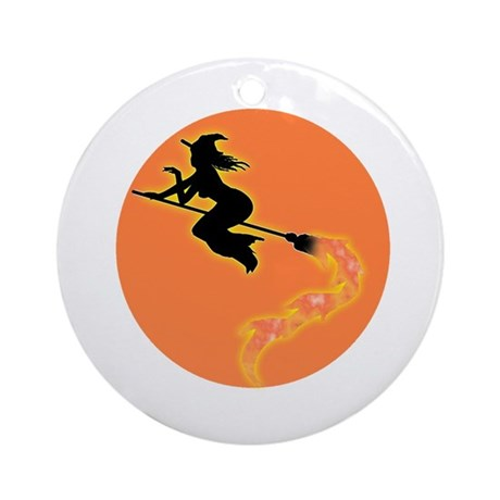 Witch Moon Ornament (Round)