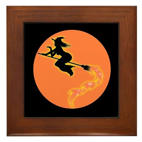 Witch Moon Framed Tile