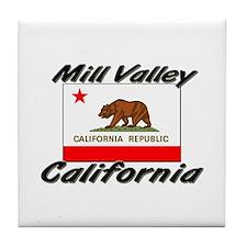 Mill Valley California Tile Coaster