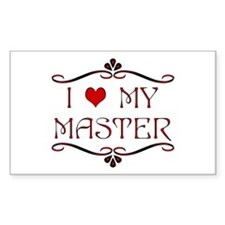 'I Love My Master' Rectangle Bumper Stickers