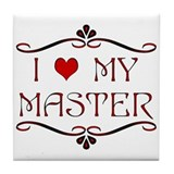 'I Love My Master' Tile Coaster