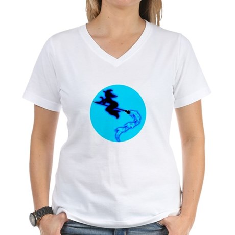 Witch Moon Women's V-Neck T-Shirt