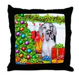 Great Dane Stockings Blue UC Throw Pillow