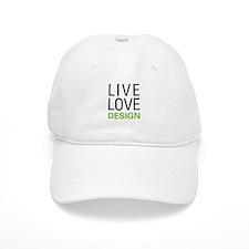 Live Love Design Baseball Cap